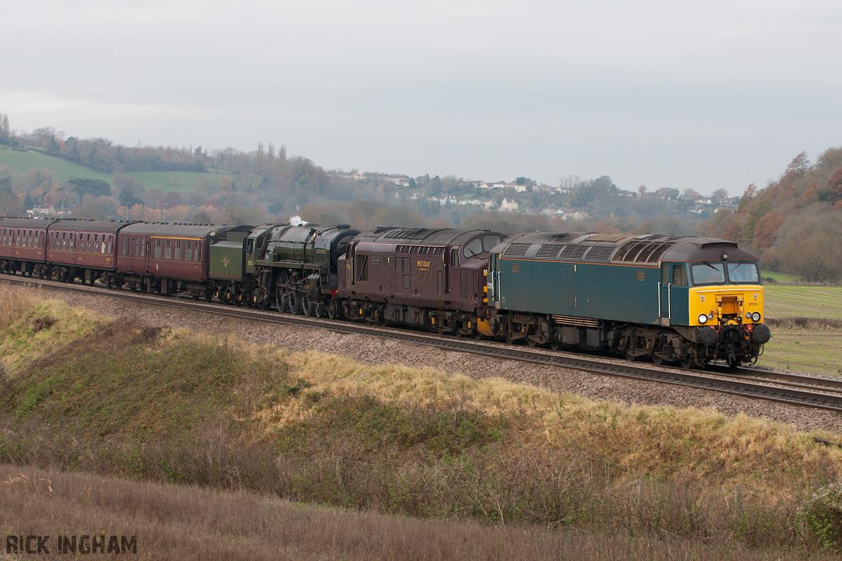 Class 57 - 57313 - Class 37 - 37516 - BR Standard Class 7