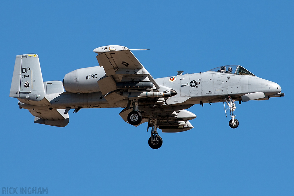 Fairchild A-10C Thunderbolt II - 81-0974/DP - USAF