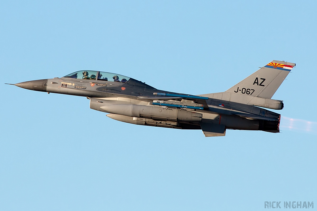 Lockheed Martin F-16B Fighting Falcon - J-067 - RNLAF