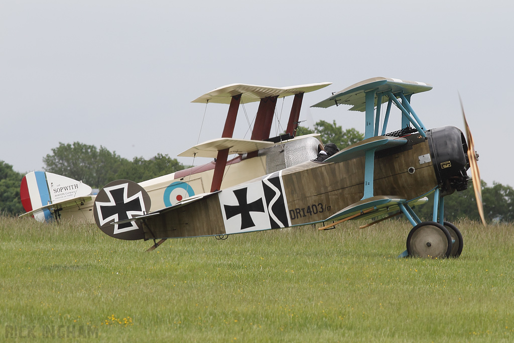 Fokker DR1 - 403/G-FOKK + Sopwith Triplane - N500/G-PENY - Great War Display Team