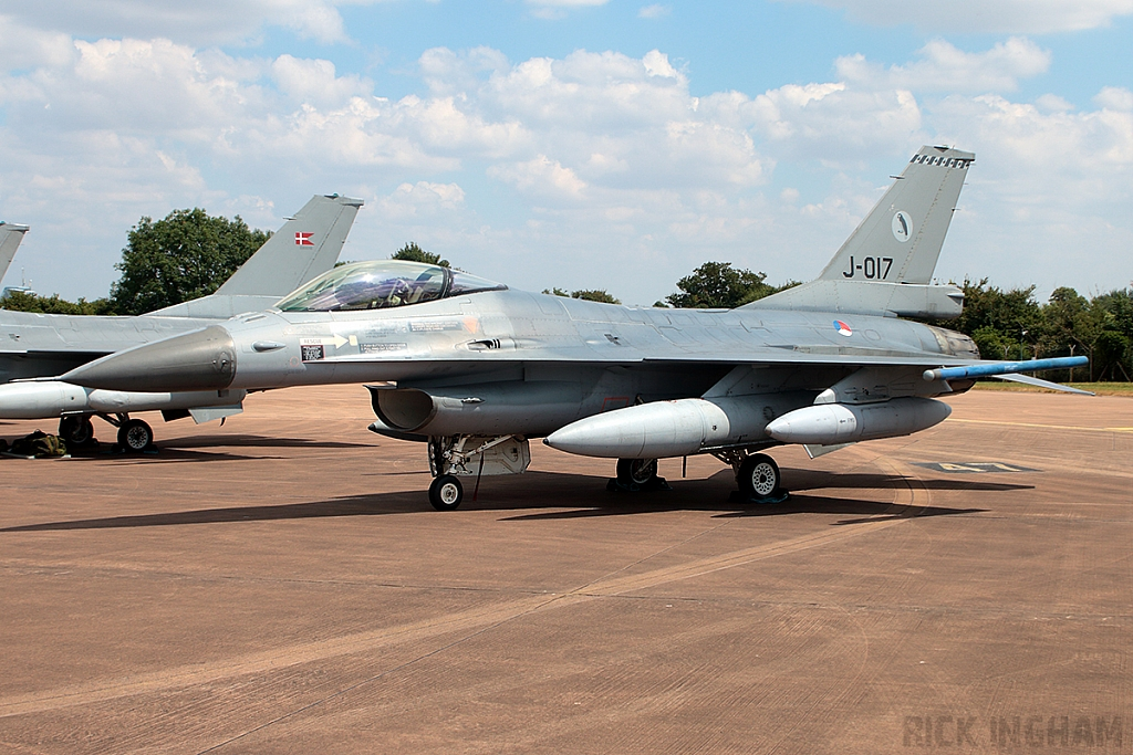 Lockheed Martin F-16AM Fighting Falcon -  J-017 - RNLAF
