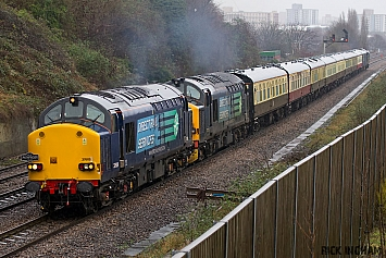 Class 37 - 37609 + 37218 tnt 37608 - Direct Rail Services