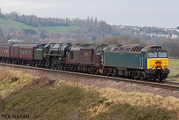 Class 57 - 57313 - Class 37 - 37516 - BR Standard Class 7 - 70013 'Oliver Cromwell' - WCRC