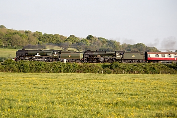 34052 'Lord Dowding' + 6100 'Royal Scot'