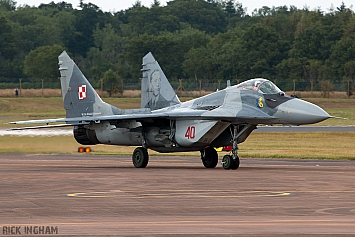 Mikoyan-Gurevich MiG-29A - 40 - Polish Air Force